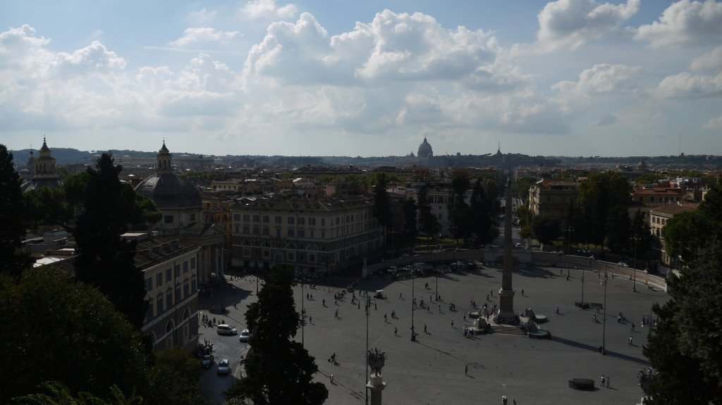 View across Piazza del Popolo towards St Peter's