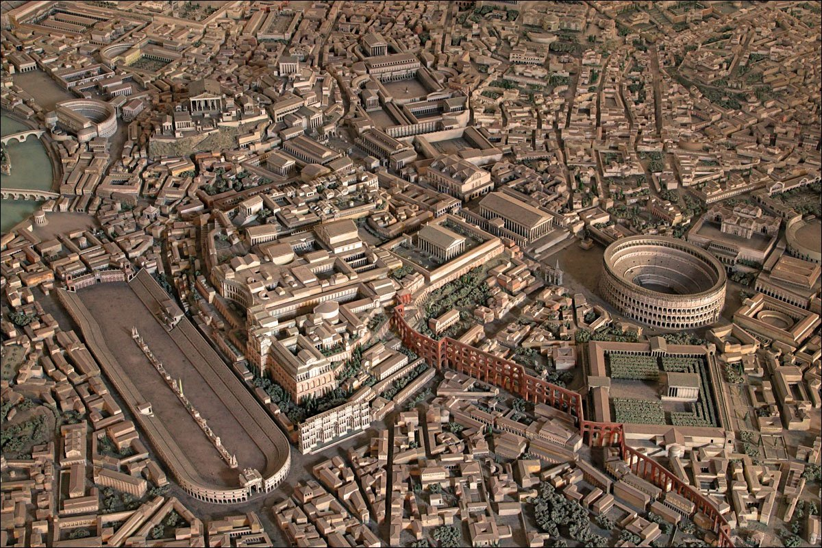 What did ancient Rome look like?