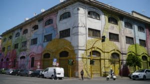 Where can I see street art in Rome?