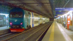 Fast train service in Rome