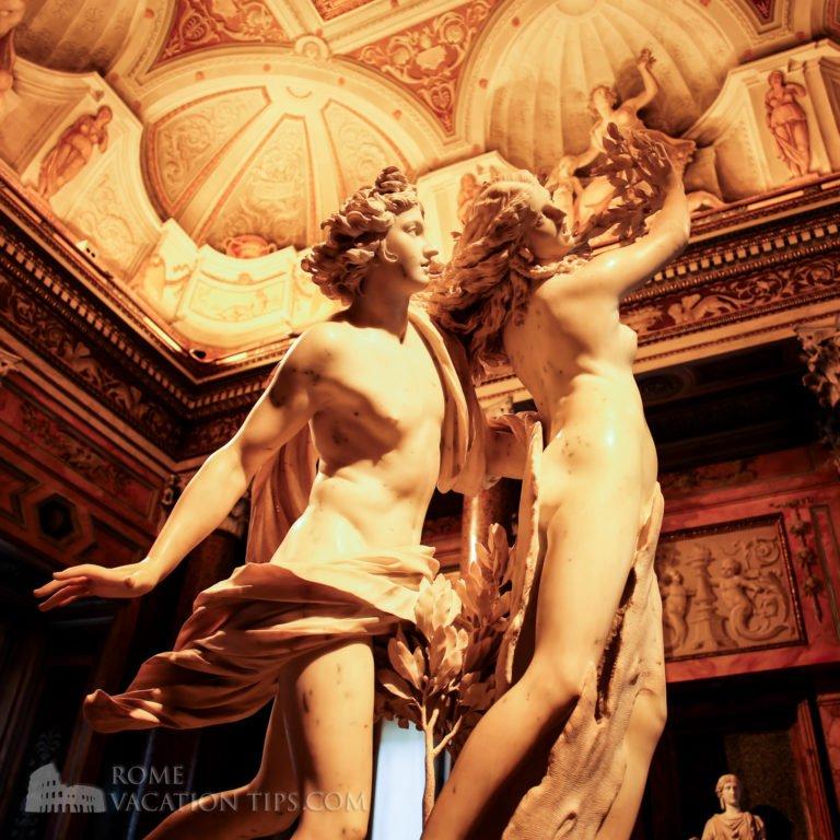 Apollo and Daphne - Bernini - Galleria Borghese - Rome Vacation Tips