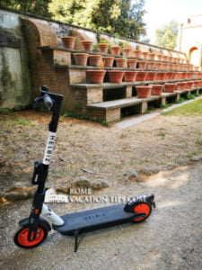 Helbiz electric scooter - Rome Vacation Tips