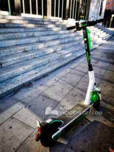 Lime electric scooter - Rome Vacation Tips