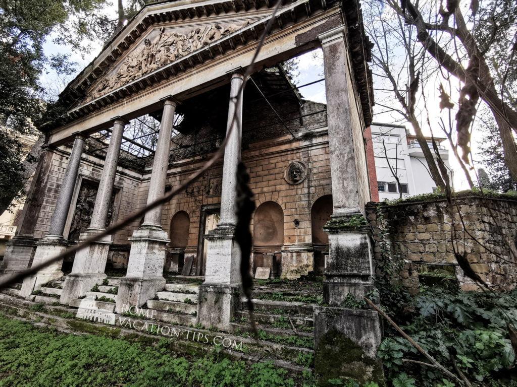 Temple of Apollo, fake ruin, Villa Torlonia, Rome