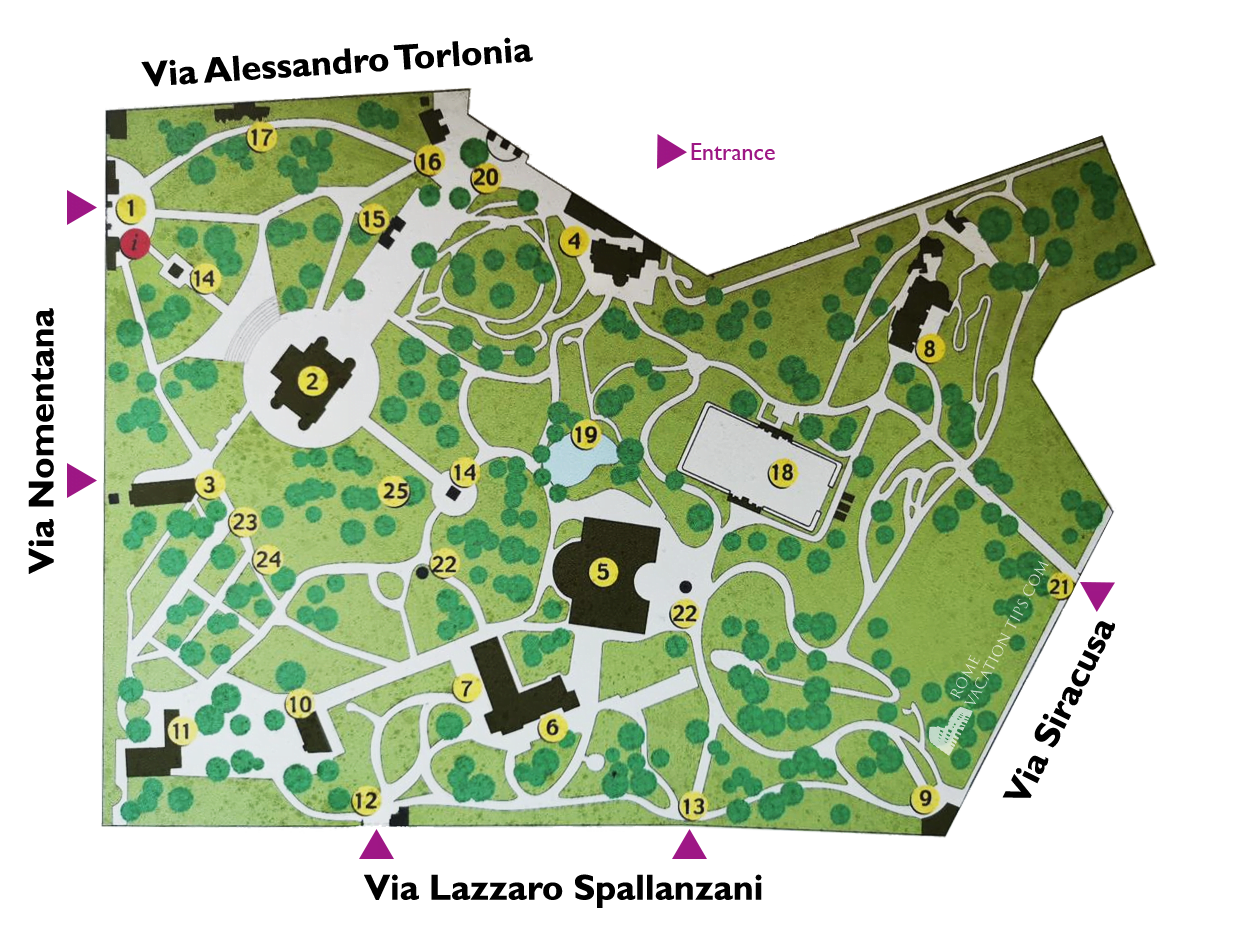 Map of Villa Torlonia