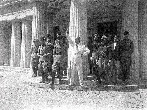 Mussolini at Villa Torlonia, Rome