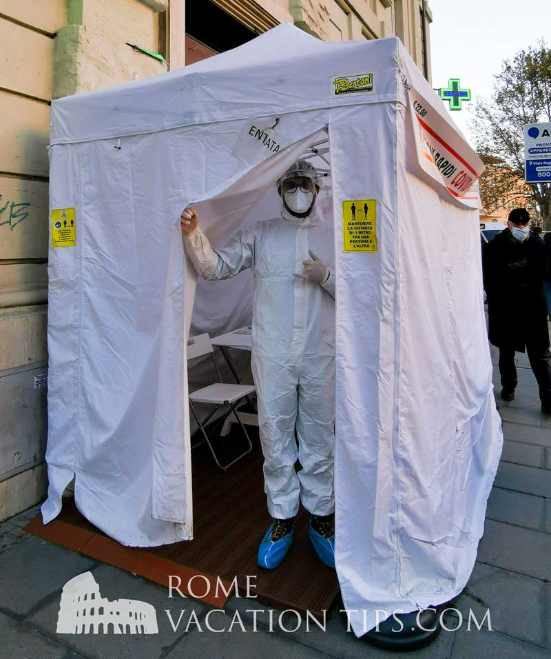 How to get a Covid-19 test in Rome in English.